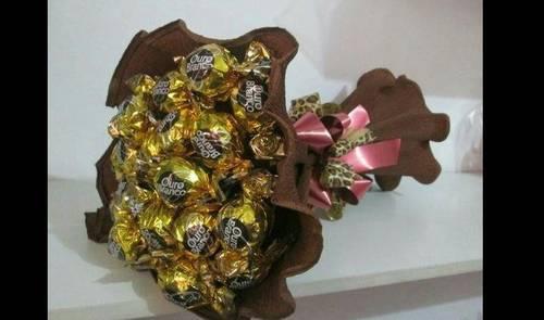 bouquet de bombom ouro branco
